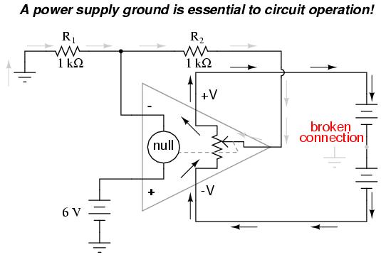 circuit diagram electron flow