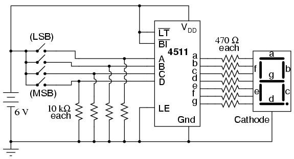 7 segment circuit diagram
