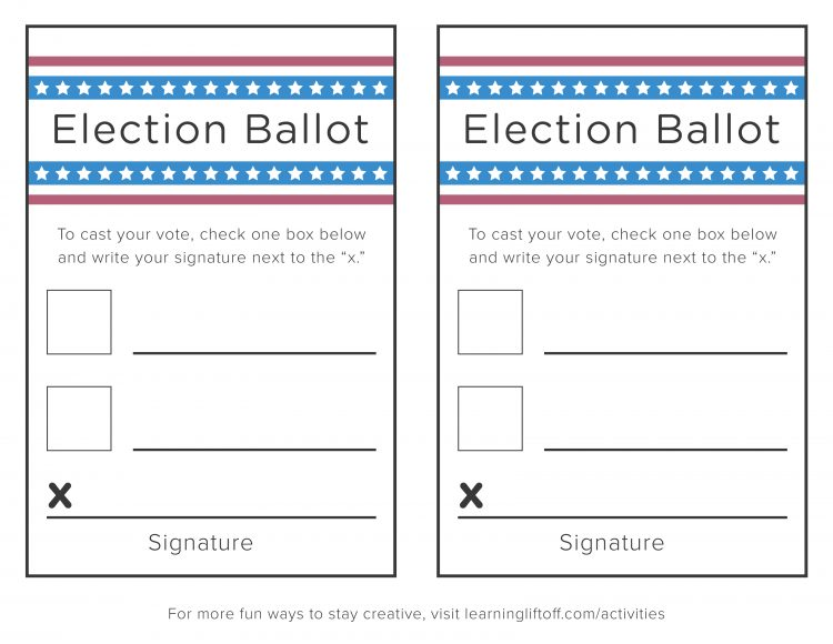 Create A Voting Ballot Template - Costumepartyrun