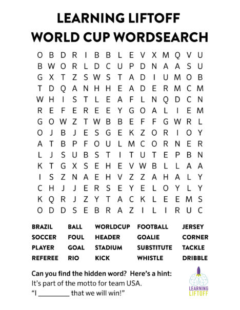5 Timely World Cup Activities and Printables for Kids - Learning Liftoff