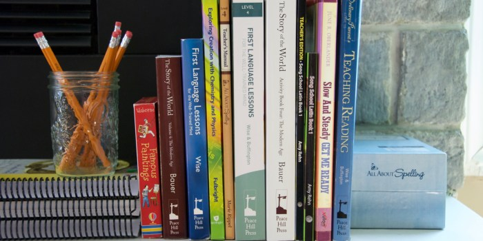 Our Relaxed Classical Homeschool Curriculum Pics for Fourth Grade, First Grade & a toddler