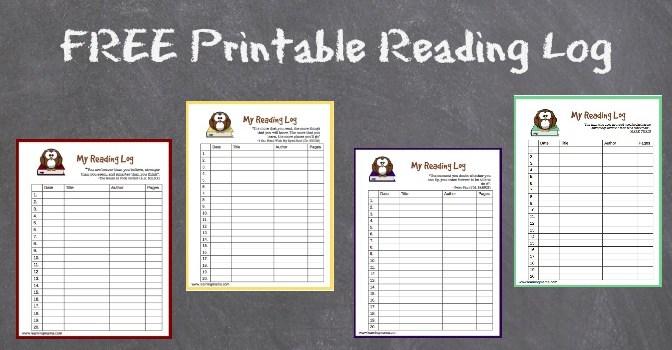 Free, Owl themed printable reading log