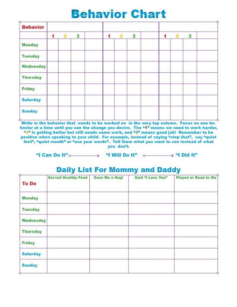 FREE Printable Behavior Charts for Home and School - akrossinfo - printable behavior charts for home