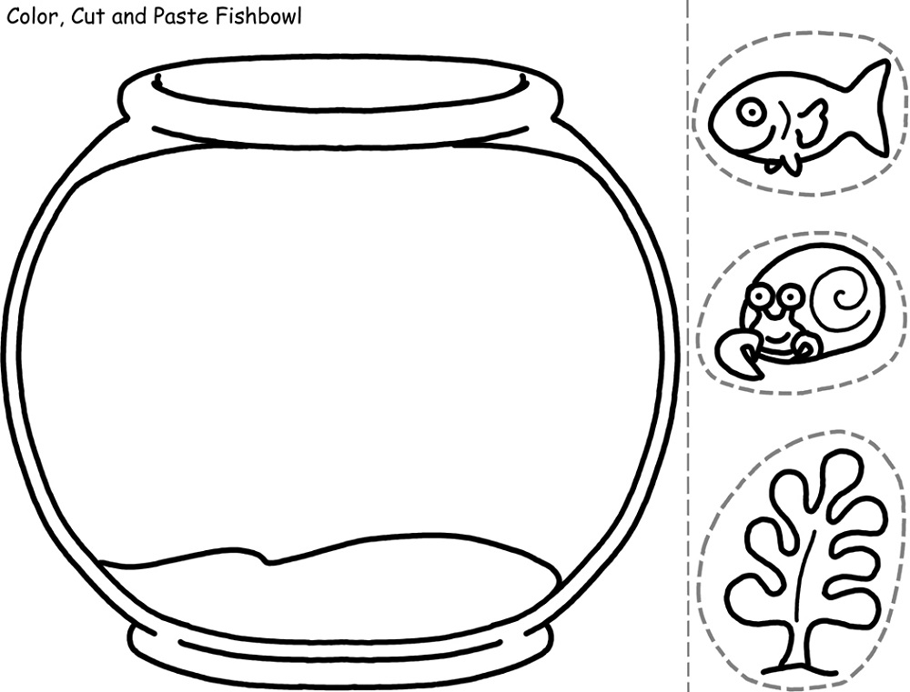 Easy Fun Fish Worksheets For Kids Learning Printable