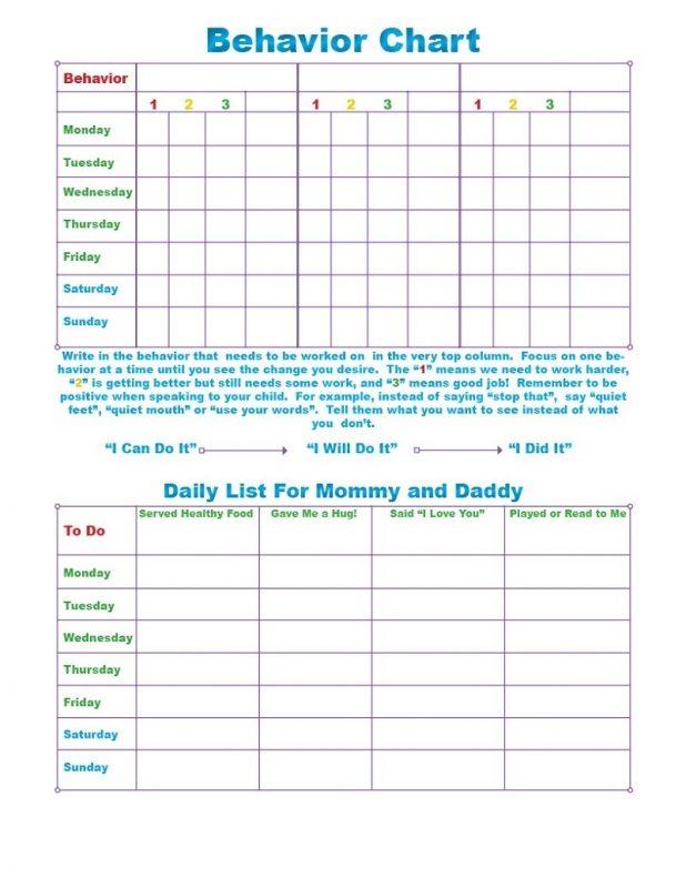 Popular Behavior Charts Free Printable Learning Printable