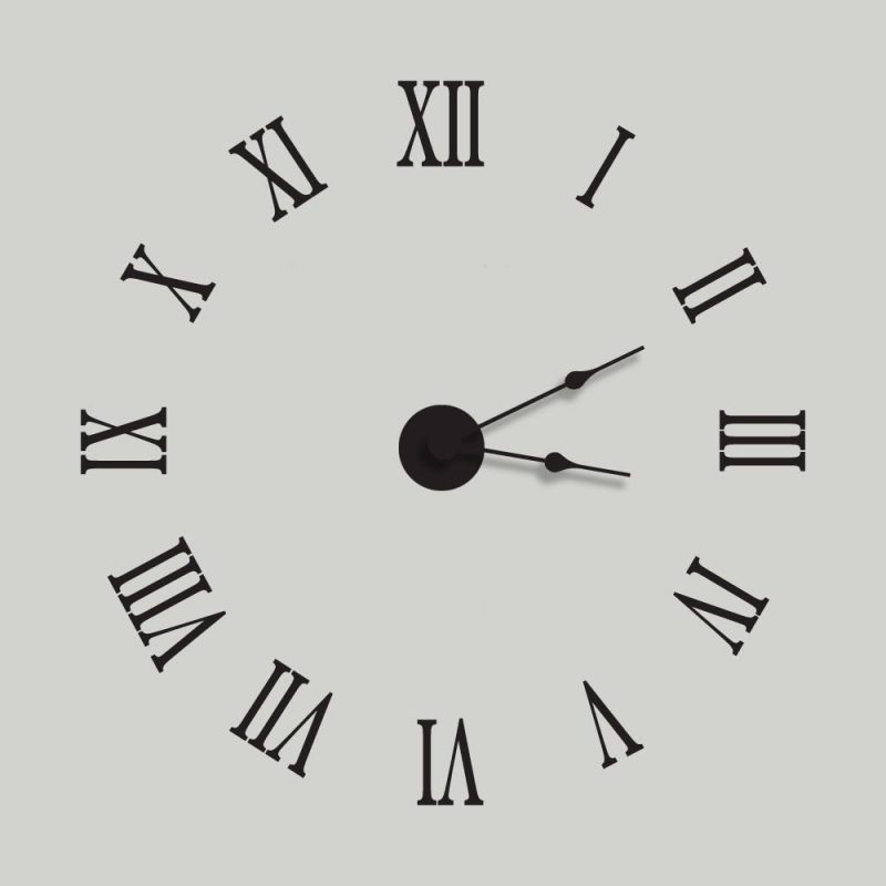 1-12 Roman Numerals Clock Face Learning Printable