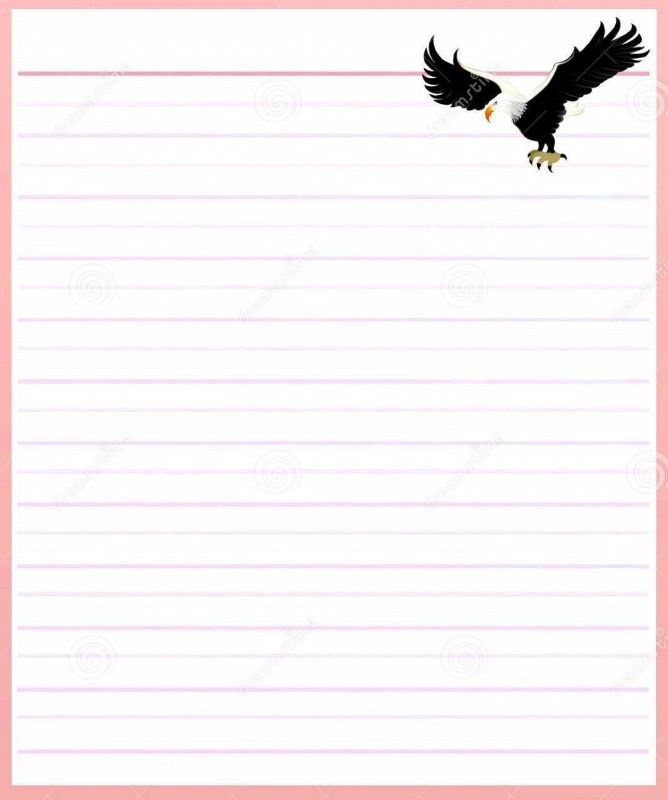 Lined Notebook Paper Template pink printable \u2013 Learning Printable - lined notebook paper template