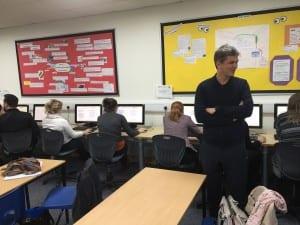 Teachers judging as Chris looks on