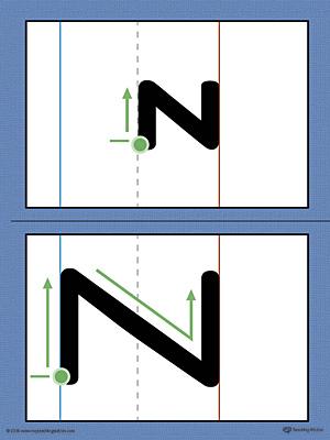 Alphabet Letter Z Formation Card Printable (Color