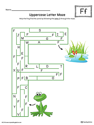 Sort the Uppercase and Lowercase Letter F Worksheet (Color