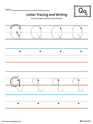Letter Q Review Worksheet (Color) MyTeachingStation