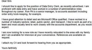 data entry clerk cover letter. data entry cv. data entry clerk ...