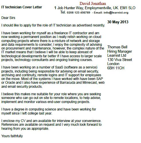 dear sir madam cover letter sincerely