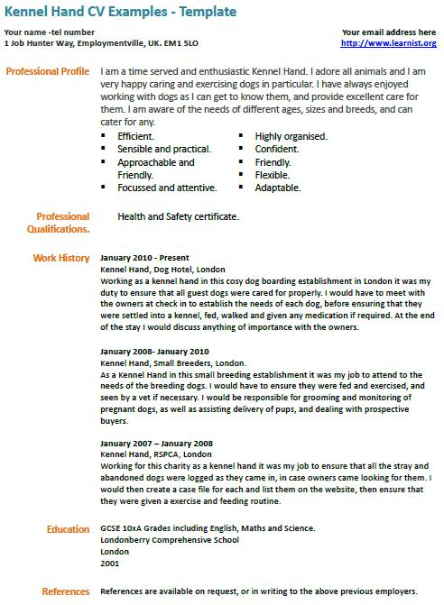 Willows Vets Veterinary Specialists 24 Hour Emergency Kennel Assistant Cv Example Learnistorg