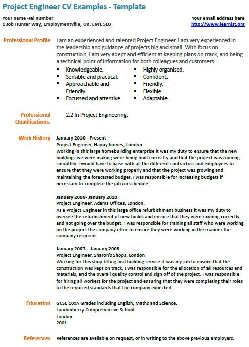 cv example it engineer