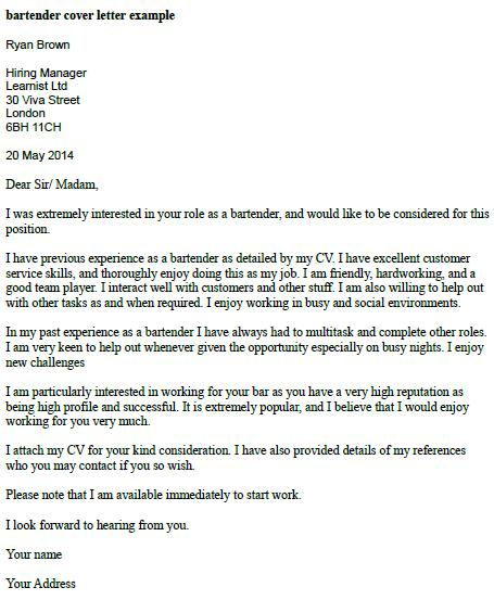 cover letter for waitress position - Alannoscrapleftbehind