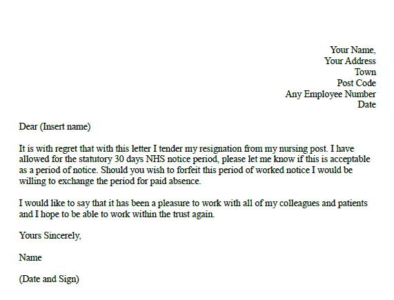 Formal resignation letter for nurses in Resignation Letters - Page 1