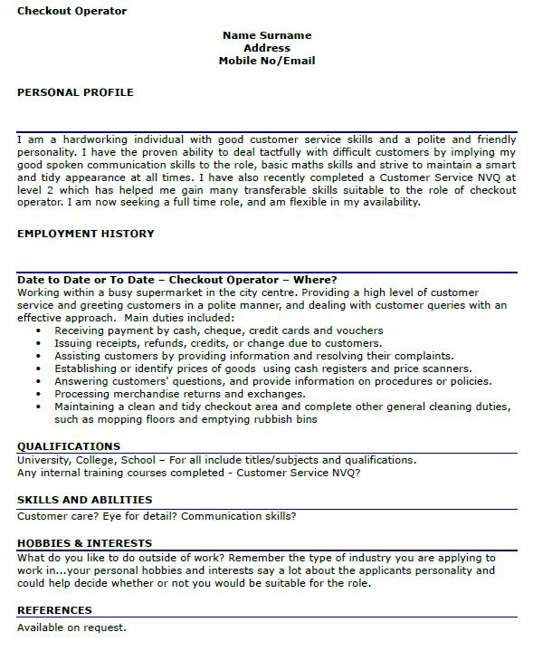 checkout operator resume