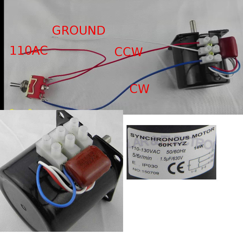 What is the proper way to wire a 3 wire synchronous motor