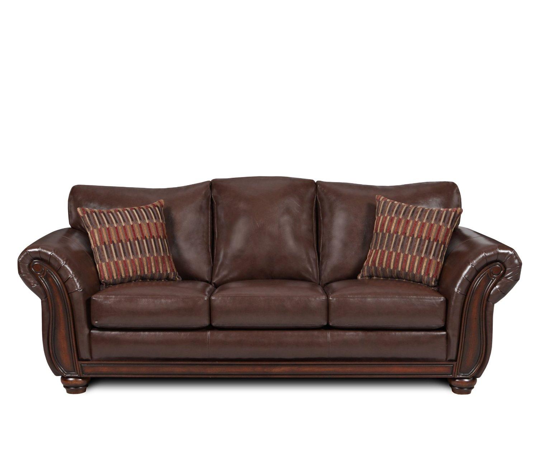 Flexsteel Brown Leather Sofa