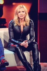 Veronica Ferres Recording The RTL Show Back To School Leather