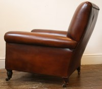 Reupholstered Leather Club Chair Antique Leather Chair ...