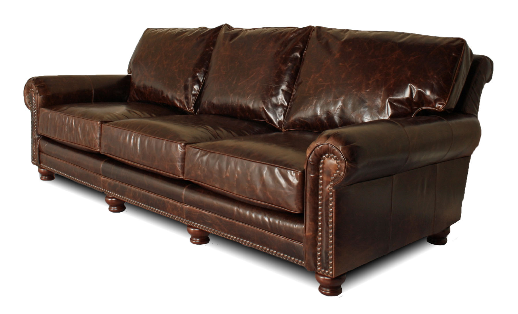 extra deep leather sofa
