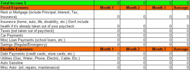 Free Expense Tracking Worksheet for Budget Planning - Leave Debt Behind - free expense tracking