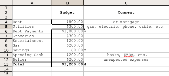 get out of debt spreadsheet