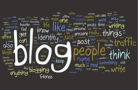 Words relating to blogging.