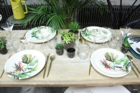 dcoration de table jungle tropicale  table