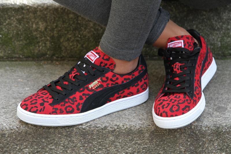 puma suede rouge leopard