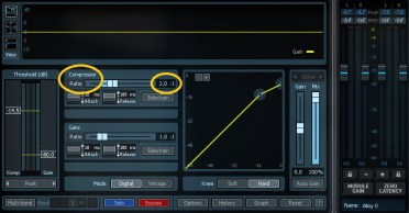 compression audio - ratio