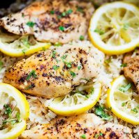 One Pot Lemon Herb Chicken & Rice