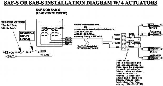 Wiring Diagram - Flat Rocker Switch (SAF-S, SAF-NS, SF-S Series