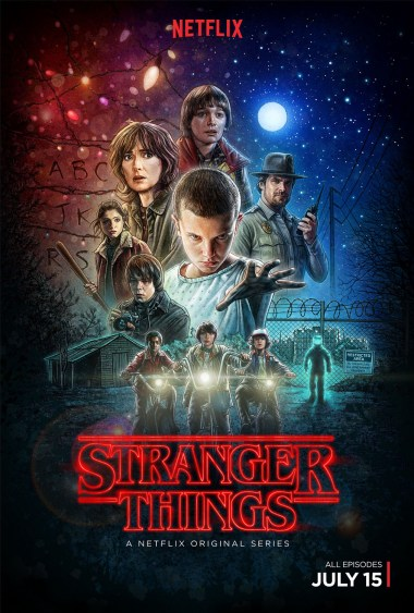 Stranger Things Le poster réalisé par l'illustrateur Kyle Lambert