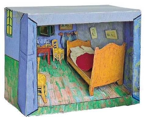 My cardboard Van Gogh Games  plush Le Dindon - Description De La Chambre De Van Gogh