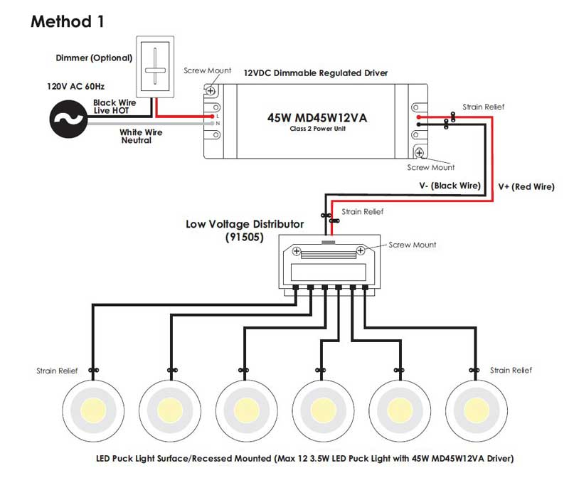 under cabinet puck light wiring diagram