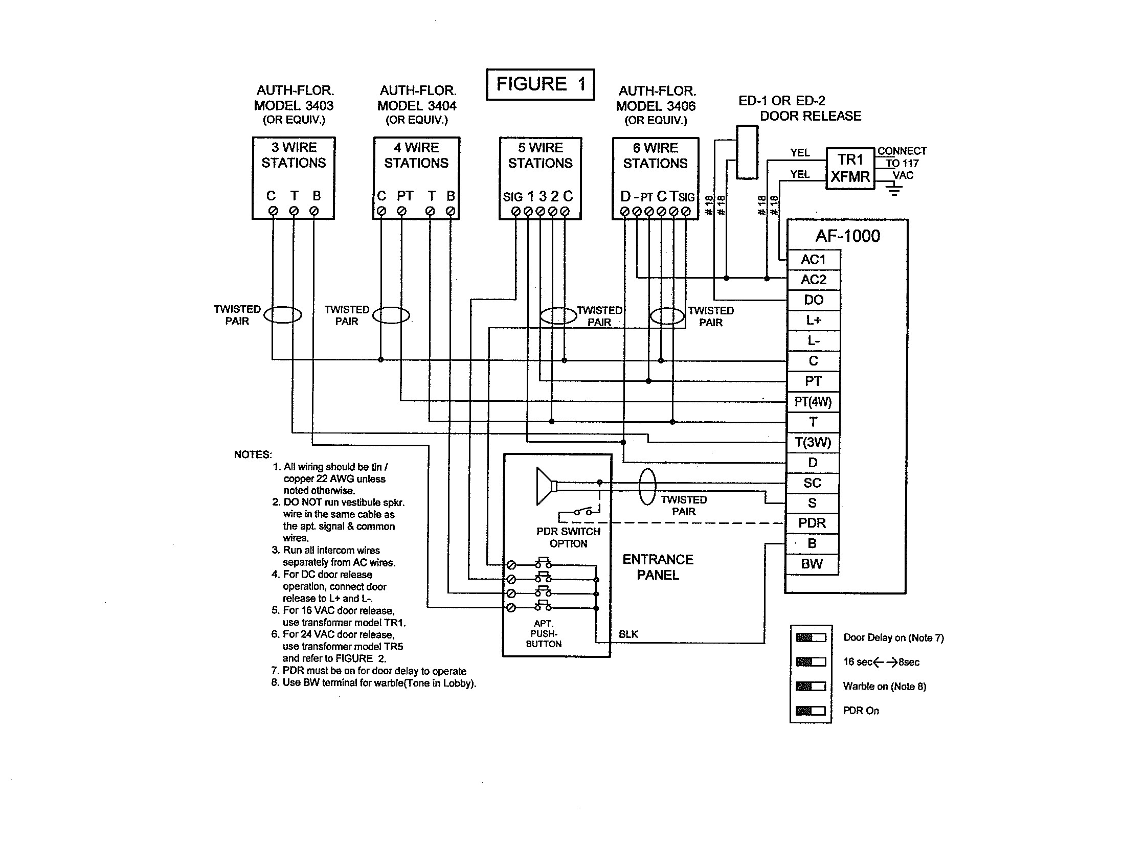 apartment intercom wiring diagram