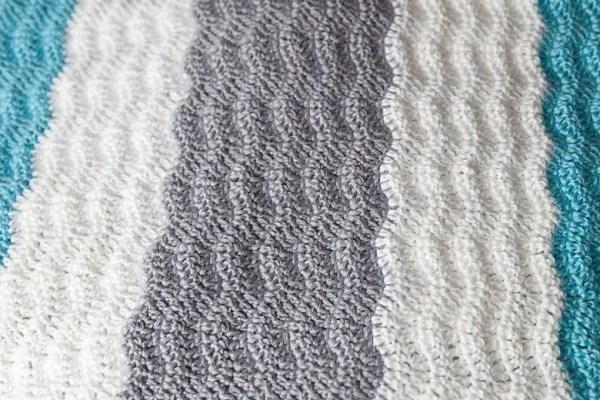 Wavy Chevron Crochet Stitch Video Tutorial