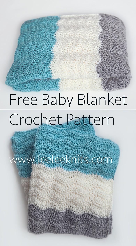Crochet Pattern Baby Blanket Chevron : Leelee Knits Blog Archive Free Chevron Baby Blanket ...