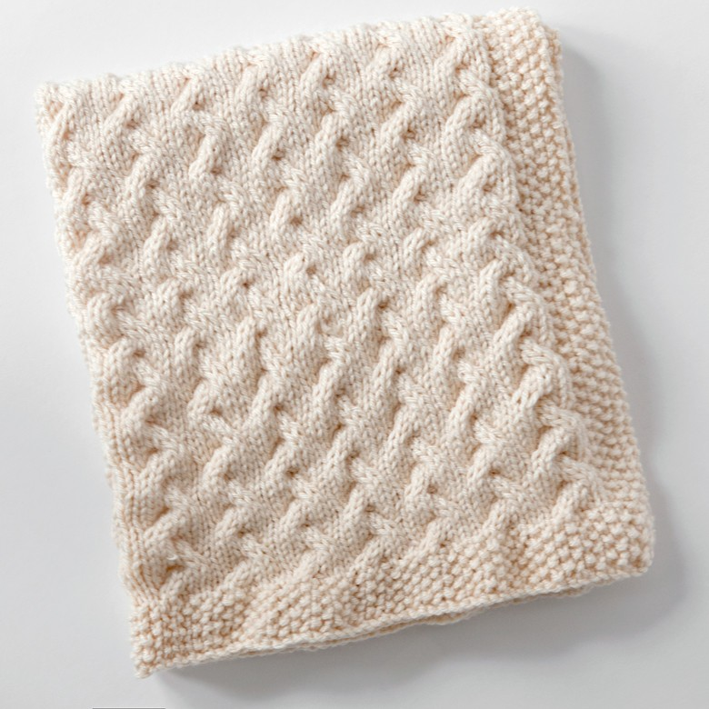 Knitting Pattern For Baby Blanket With Cable : Leelee Knits   Blog Archive Tiny Ripples - Free Baby Blanket Knitting Pattern...