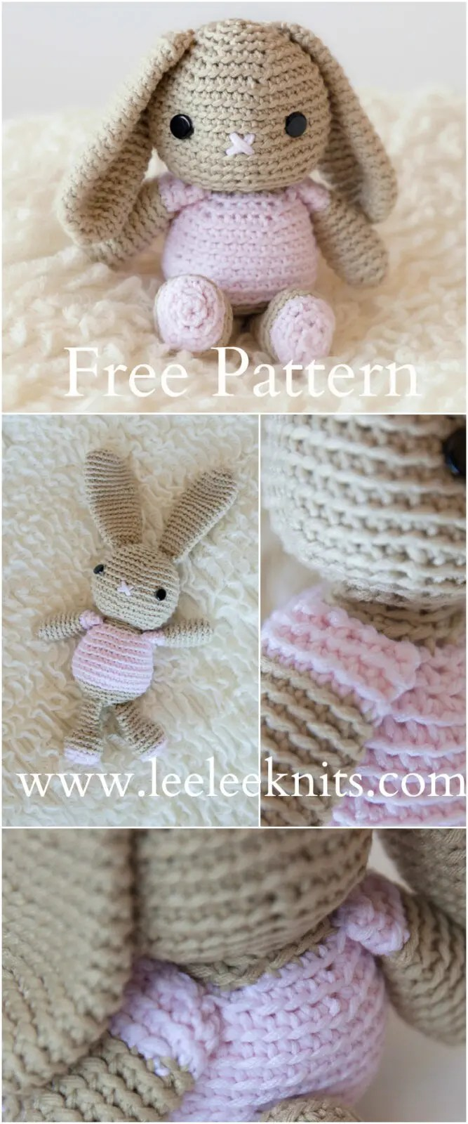 Free Crochet Pattern For A Rabbit : Leelee Knits Blog Archive Free Crochet Bunny Pattern ...