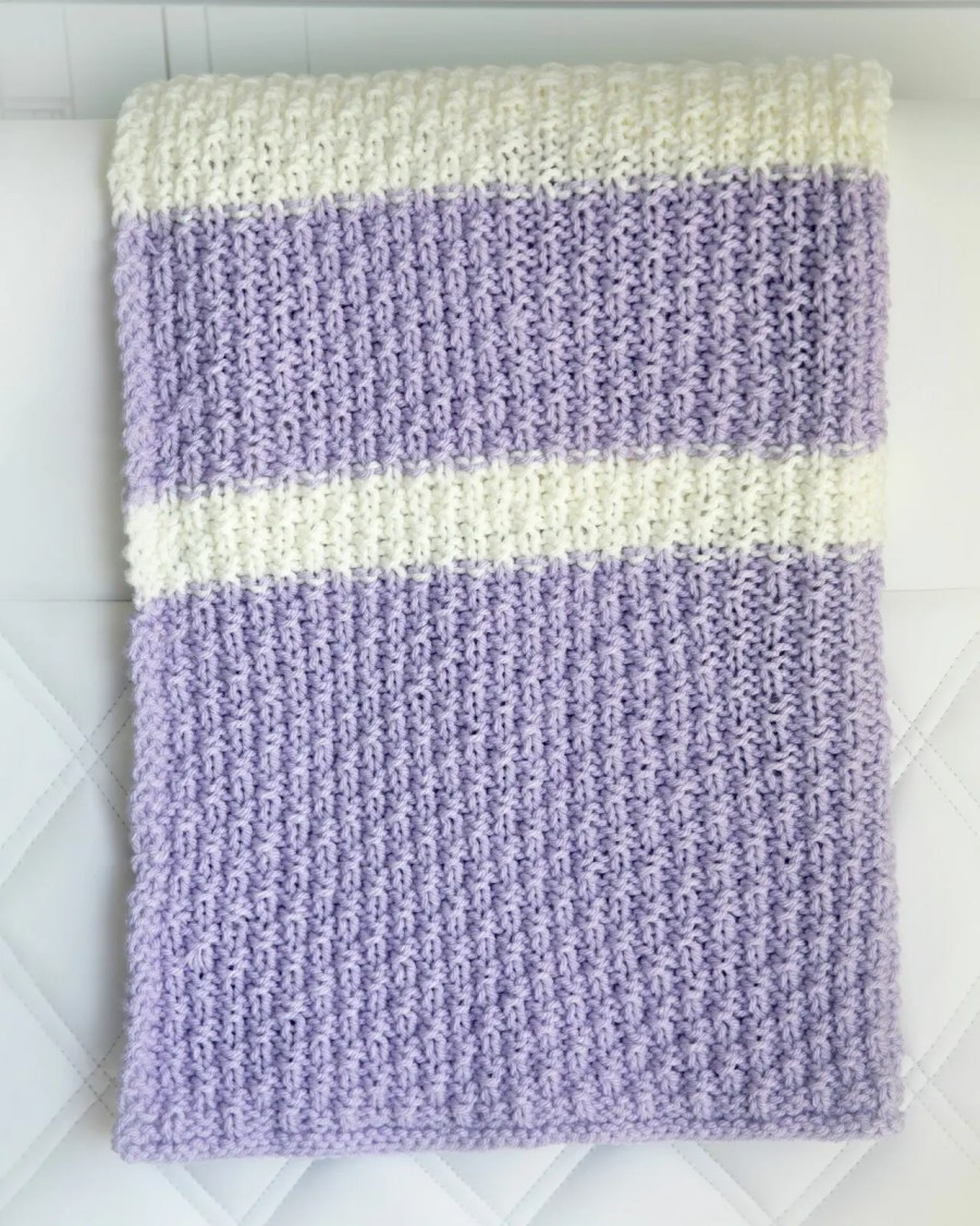 Easy Knitting Pattern For Baby Blanket : Easy knit baby blanket pattern leelee knitsleelee knits