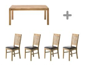 Duke Oak Dining Chair With Fabric Seat Pad Lee Longlands
