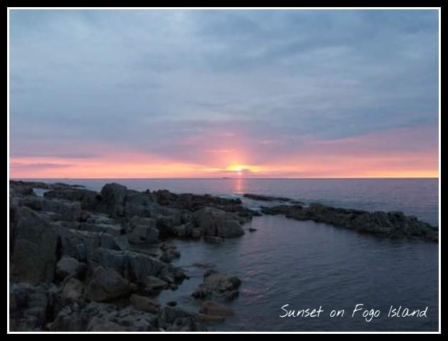 Sunset on Fogo Island