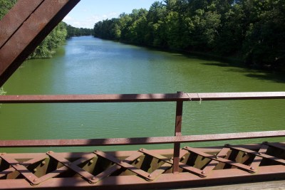 Green river, from cyanobacteria