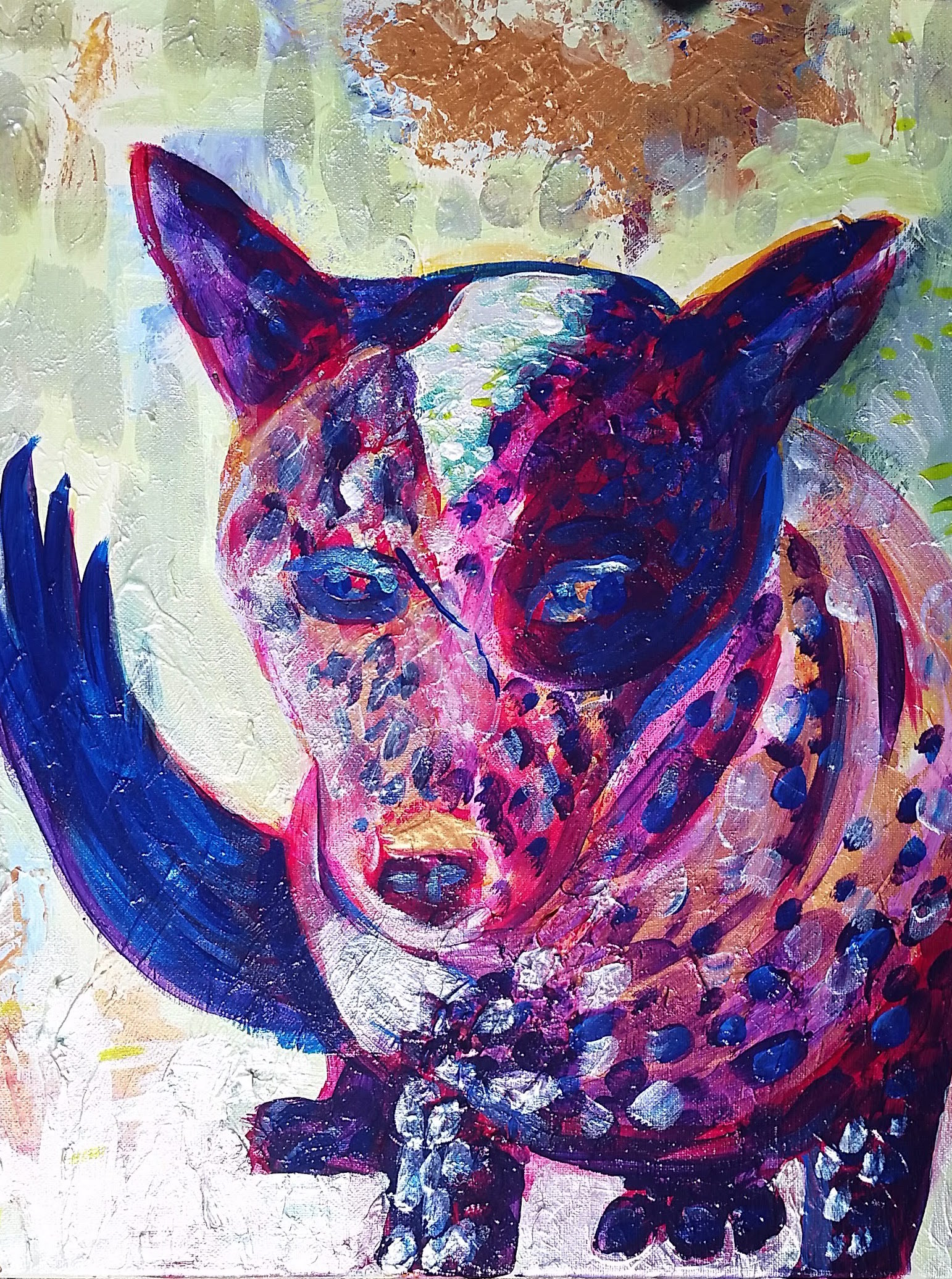May 2 - blue heeler dog, acrylic on canvas