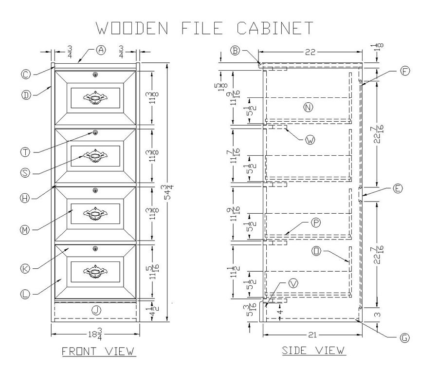 Learn How to Make a Wooden File Cabinet - Woodworking Plans at Lee\u0027s