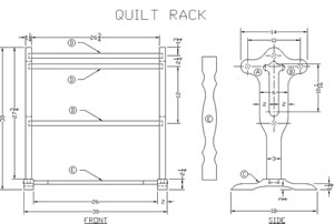 Free Quilt Rack Woodworking Plan From Lee39s Wood Projects